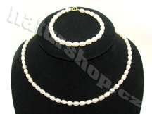 perly náhrdelník a náramek